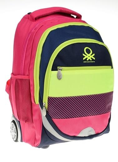 012 Benetton Okul Çantası Renkli
